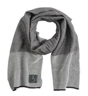 Sciarpa in tricot con filo bianco e nero sarabanda NERO-0658