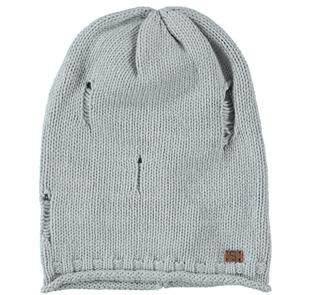 Cappello modello cuffia in tricot di cotone sarabanda GRIGIO MELANGE-8992