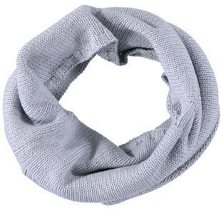 Scaldacollo in tricot di cotone con rotture sarabanda GRIGIO MELANGE-8992