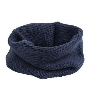 Scaldacollo in tricot misto cotone lana sarabanda NAVY-3854
