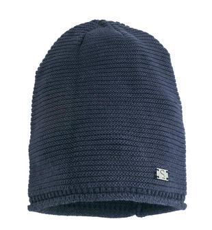 Cappello modello cuffia in tricot misto cotone lana sarabanda NAVY-3854