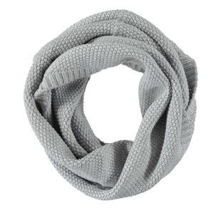 Scaldacollo in tricot misto cotone lana grana di riso sarabanda GRIGIO MELANGE-8992