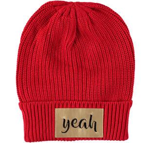 Cappello modello cuffia con applicazione rock sarabanda ROSSO-2253