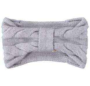 Fascia per capelli in tricot sarabanda GRIGIO MELANGE-8992