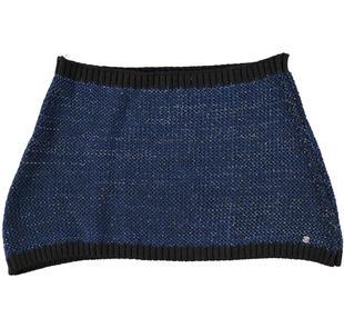Sciarpa coprispalle in brillante tricot lavorazione grana di riso sarabanda NERO-0658