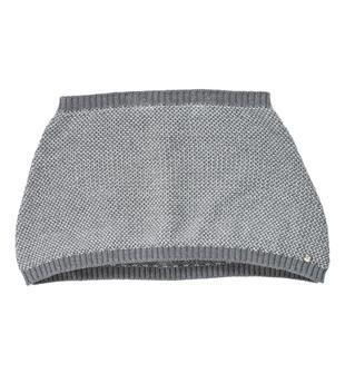 Sciarpa coprispalle in brillante tricot lavorazione grana di riso sarabanda GRIGIO MELANGE-8873
