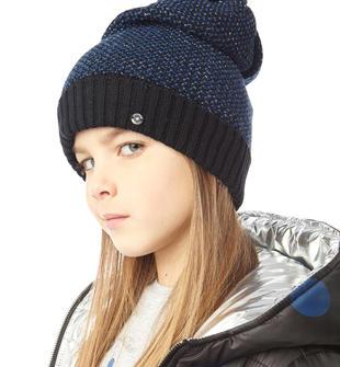 Cappello modello cuffia in tricot misto lurex sarabanda NERO-0658