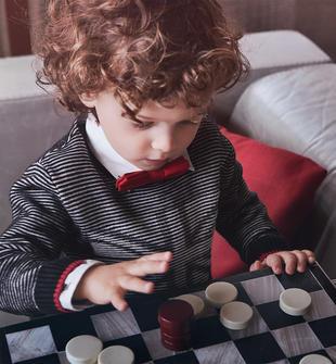 Maglia tricot con bandiera inglese per bambino sarabanda NERO-0658