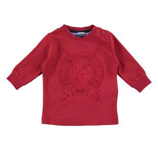 Maglietta girocollo stampa scherma sarabanda ROSSO-2536