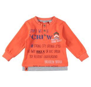 Maglietta in cotone manica lunga collo serafino sarabanda ARANCIO-2211