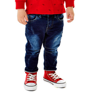 Pantalone felpa denim stretch sarabanda BLU-7750