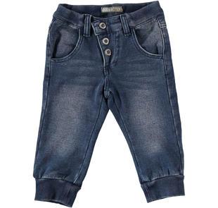 Pantalone modello jogging in felpa denim sarabanda BLU-7750