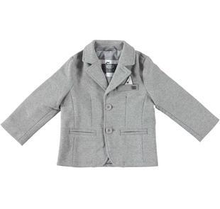 Giacca modello blazer in tessuto per bambino sarabanda GRIGIO MELANGE-8992