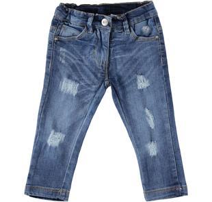 Jeans slim fit con moderne rotture per bambina sarabanda STONE WASHED-7450