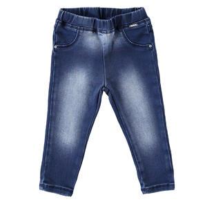Pantalone modello jeggings con finte tasche sarabanda STONE WASHED-7450