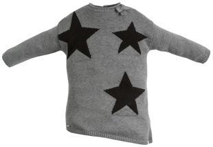 Mini abito asimmetrico con stelle sarabanda GRIGIO MELANGE-8967