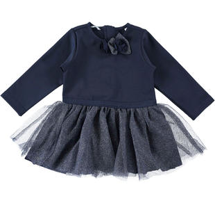 Elegante abito con gonna in tulle sarabanda NAVY-3854