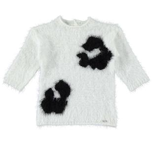 Mini abito effetto pelliccia con macro macule sarabanda PANNA-0112