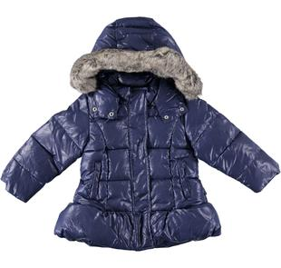 Giubbotto invernale imbottito in ovatta con cappuccio per bambina sarabanda NAVY-3854