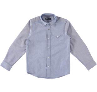 Camicia classica a manica lunga 100% cotone sarabanda NAVY-3554