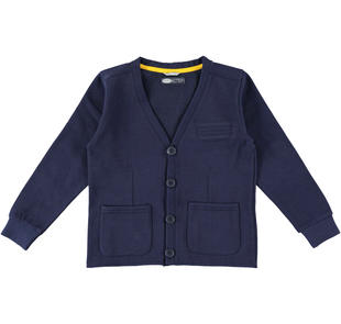 Cardigan in felpa con bottoni sarabanda NAVY-3854