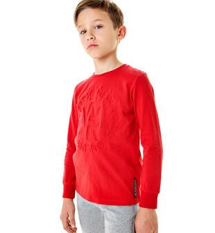 Maglietta in jersey di cotone 100% con stampa sul rovescio sarabanda ROSSO-2253