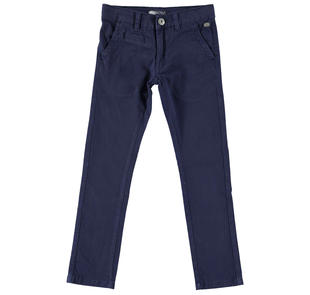 Pantalone modello chinos con tasche a filetto sarabanda NAVY-3854