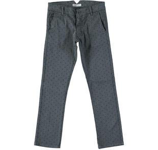 Pantalone in tessuto micro-fantasia a pois per bambino sarabanda