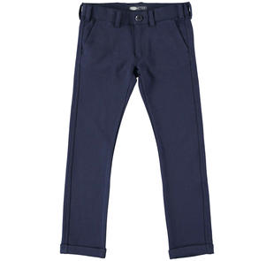 Elegante pantalone in tessuto a maglia per bambino sarabanda NAVY-3854