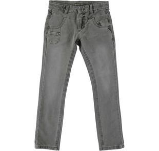 Pantalone in felpa finitura calda per bambino sarabanda GRIGIO SCURO-0564