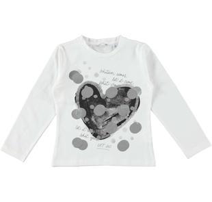 T-shirt a manica lunga con grafica macro pois sarabanda PANNA-0112
