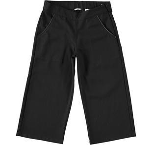 Pantalone modello cropped per bambina sarabanda NERO-0658