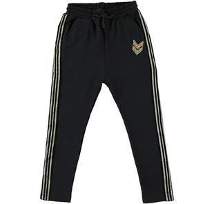 Pantalone in felpa modello baggy fit per bambina sarabanda NERO-0658