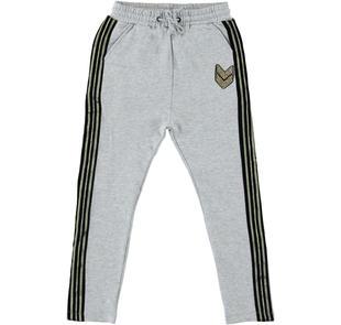 Pantalone in felpa modello baggy fit per bambina sarabanda GRIGIO MELANGE-8992