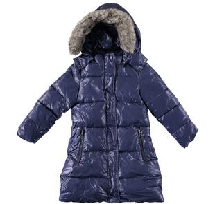 Piumino invernale imbottito in ovatta e foderato in pelliccia sintetica per bambina sarabanda NAVY-3854