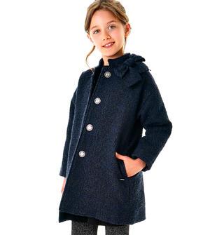 Cappotto imbottito in soffice ovatta per bambina sarabanda NERO-BLU-8394