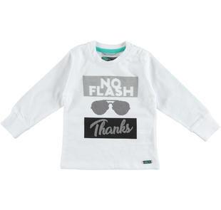 Trendy e fashion maglietta bambino a manica lunga 100% cotone sarabanda BIANCO-0113
