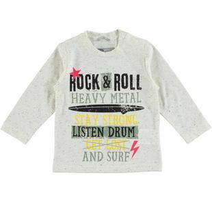 Maglietta bambino in particolare jersey screziato sarabanda PANNA-0112