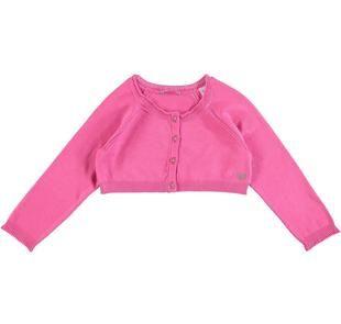 Cardigan corto in tricot di viscosa stretch con manica raglan sarabanda ROSA-2427