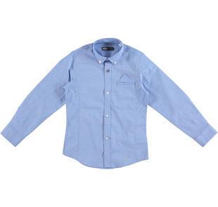 Camicia a manica lunga in fil a fil stretch di cotone modello avvitato sarabanda AVION-3621