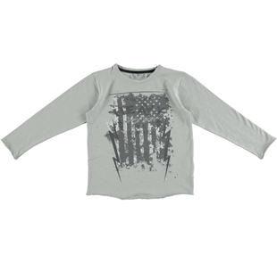 Maglietta girocollo stile rockettaro sarabanda GRIGIO-0518
