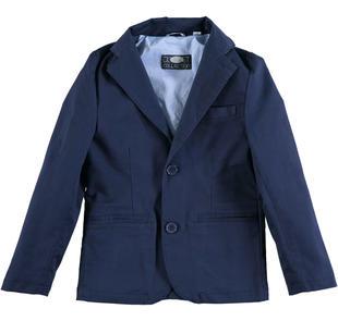 Elegante giacca modello avvitato con rever classico dentellato sarabanda NAVY-3854