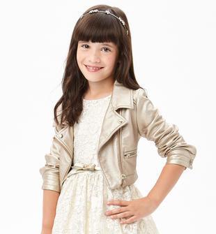 official photos 96c4a 691f0 Giubbotto corto in ecopelle modello chiodo con zip di metallo per bambina  da 6 a 16 anni Sarabanda