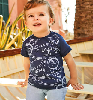 Spiritosa e sbarazzina t-shirt in jersey 100% cotone sarabanda NAVY-3854