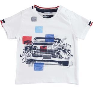Comodissima t-shirt 100% cotone con stilosa grafica sarabanda BIANCO-0113