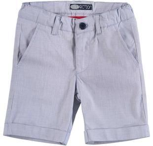 Pantalone corto in tela di cotone stretch armaturata sarabanda ROYAL SCURO-3755