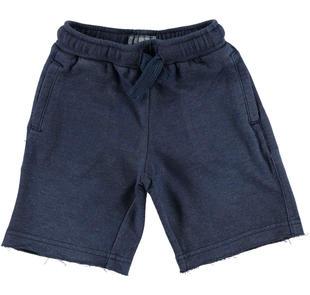 Comodissimo e pratico pantalone corto in felpa non garzata sarabanda NAVY-3854