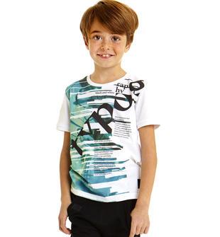 T-shirt bambino in jersey 100% cotone sarabanda BIANCO-0113