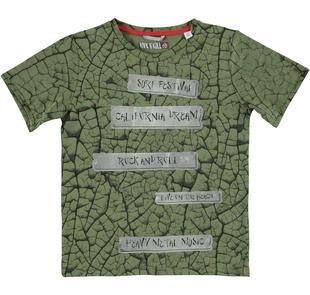 T-shirt girocollo in jersey 100% cotone sarabanda VERDE-4752