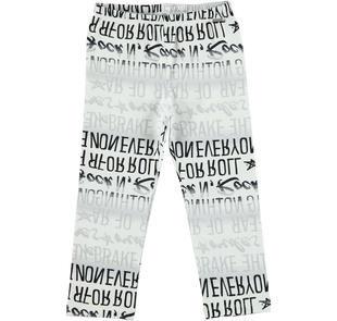 Rock e grintosi leggings bambina in cotone elasticizzato sarabanda BIANCO-NERO-6DP8